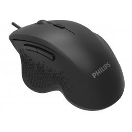 PHILIPS ενσύρματο ποντίκι SPK7444, 3200DPI, USB, 6 πλήκτρα, μαύρο