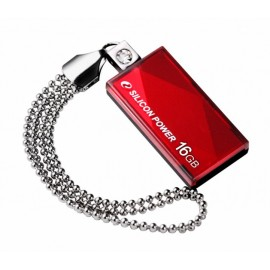 SILICON POWER USB Flash Drive Touch 810, 16GB, USB 2.0, Red