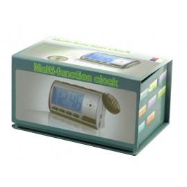 Επιτραπέζιο ψηφιακό ρολόι με κρυφή κάμερα, Silver