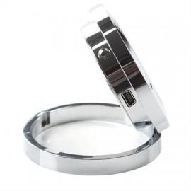 Επιτραπέζιο ρολόι με κρυφή κάμερα και ανιχνευτή ήχου, Silver