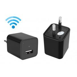 Φορτιστής Κινητού με κρυφή κάμερα Full HD, USB, WiFi