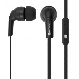 TITANUM earphones TH109K, stereo, 3.5mm, 108dB, 1.2m, μαύρα