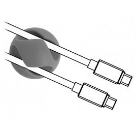 POWERTECH Οργανωτής καλωδίων σιλικόνης TIES-010, 2 καλωδίων, 6τμχ