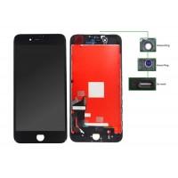 TIANMA High Copy LCD iPhone 7G Plus, Camera-Sensor ring, ear mesh, Black