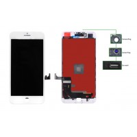 TIANMA High Copy LCD iPhone 7G Plus, Camera-Sensor ring, ear mesh, White