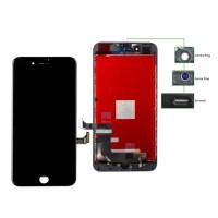 TIANMA High Copy LCD iPhone 8G Plus, Camera-Sensor ring, ear mesh, Black