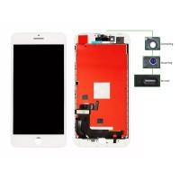 TIANMA High Copy LCD iPhone 8G Plus, Camera-Sensor ring, ear mesh, White