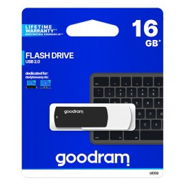 GOODRAM USB Flash Drive UCO2 0160KWR11, 16GB, USB 2.0, μαύρο