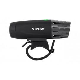 VIPOW εμπρόσθιο φως ποδηλάτου URZ0915, 3W, Toshiba LED, μαύρο