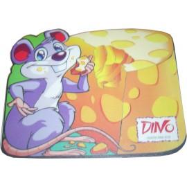 HARD PVC mouse Pad σε σχήμα ποντικιού που τρώει τυρί   230 X 180 X 3mm