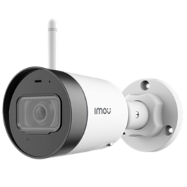 "IMOU IP CAMERA BULLET LITE, IPC-G22, OUTDOOR, 1/2.7"" 2M CMOS, ICR, H.265/H.264, FHD 2MP (25FPS), 16X DIGITAL ZOOM, 2.8MM LENS, IR 30M, DC12V, 2,4GHZ WI-FI & ETHERNET PORT, IP67, MICRO SD, BUILT-IN MIC, 2YW"