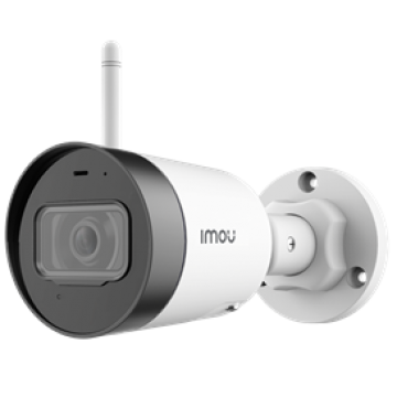 """IMOU IP CAMERA BULLET LITE, IPC-G22, OUTDOOR, 1/2.7"""" 2M CMOS, ICR, H.265/H.264, FHD 2MP (25FPS), 16X DIGITAL ZOOM, 2.8MM LENS, IR 30M, DC12V, 2,4GHZ WI-FI & ETHERNET PORT, IP67, MICRO SD, BUILT-IN MIC, 2YW"""