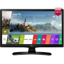 """LG MONITOR TV 24MT49S-PZ SMART, WIDE VIEWING ANGLE,  LCD TFT LED, 23.6"""", 16:9, 250 CD/M2, 5.000.000:1, 8MS, 1366x768,  2xHDMI v1.4/CI/USB/DVB-T/C, 2X5WATT, BLACK, 2YW & 0 PIXEL."""