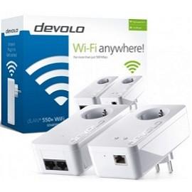 DEVOLO POWERLINE dLAN 550+ WiFi STARTER KIT (9840), 1x dLAN 550+ WiFi (WIRELESS) ADAPTER & 1x dLAN 550 DUO+ ADAPTER, dLAN 550Mbps, 3YW.
