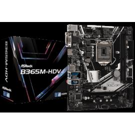 ASROCK MB B365M-HDV, SOCKET INTEL LGA1151 8th/9th GEN, CS INTEL B365, 2 DIMM SOCKETS DDR4, D-Sub/DVI-D/HDMI, LAN GIGABIT, MICRO-ATX, 2YW.