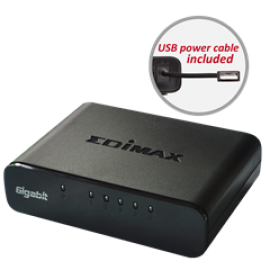 EDIMAX SWITCH ES-5500G V3, 5 PORTS 10/100/1000MBPS GIGABIT SOHO SWITCH WITH USB CABLE, 2YW.