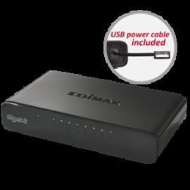 EDIMAX SWITCH ES-5800G V3, 8 PORTS 10/100/1000MBPS GIGABIT SOHO SWITCH WITH USB CABLE, 2YW.