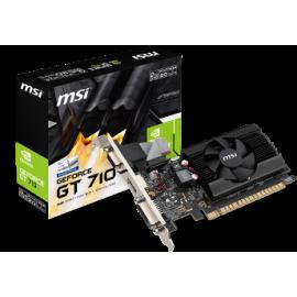 MSI VGA PCI-E NVIDIA GF GT 710 (GT710-2GD3LP), 2GB/64BIT DDR3, 15PIN DSUB/DL DVI-D/HDMI, 1 SLOT FANSINK, 3YW.