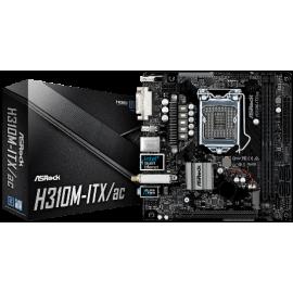 ASROCK MB H310M-ITX/AC, SOCKET INTEL LGA1151 8th GEN, CS INTEL H310, 2 DIMM SOCKETS DDR4, WiFi 802.11 AC, DVI-I/HDMI/DP v1.2, LAN GIGABIT, MINI-ITX, 2YW.