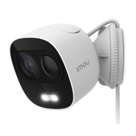 "IMOU IP CAMERA LOOC, IPC-C26E, OUTDOOR, 1/2.7"" 2M CMOS, ICR, H.265/H.264, FHD 2MP (25FPS), 16X DIGITAL ZOOM, 2.8MM LENS, IR 10M, PIR, DC5V, 2,4GHZ WI-FI, IP65, MICRO SD, MIC AND SPEAKER, ACTIVE DETERRENCE, LIGHT & 110DB SIREN, 2YW"