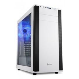 SHARKOON PC CHASSIS M25-W, MIDI TOWER ATX, WHITE, W/O PSU, 2x12CM FRONT FAN, 1x12CM REAR BLUE LED FAN, 2YW.