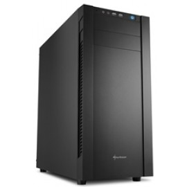SHARKOON PC CHASSIS S25-S, MIDI TOWER ATX, BLACK, W/O PSU, 1x12CM REAR FAN, 2YW.