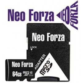 NEO FORZA SDXC MICRO 64GB, CLASS 10, UHS-1, SD ADAPTER, 5YW.