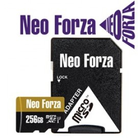 NEO FORZA SDXC MICRO 256GB, CLASS 10, UHS-3, SD ADAPTER, LTW.
