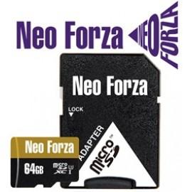 NEO FORZA SDXC MICRO 64GB, CLASS 10, UHS-3, SD ADAPTER, LTW