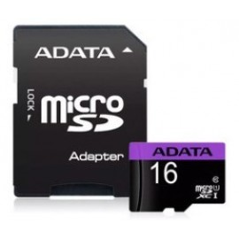 ADATA SDHC MICRO 16GB PREMIER AUSDH16GUICL10-RA1, CLASS 10, UHS-1, SD ADAPTER, 5YW.