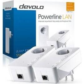 DEVOLO POWERLINE dLAN 1200+ STARTER KIT (9382), 2x dLAN 1200+ ADAPTER, dLAN 1200Mbps, SHUKO, AC POWER OUT SOCKET, 3YW.