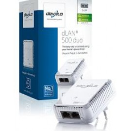 DEVOLO POWERLINE dLAN 500 DUO SINGLE (9119), 1x dLAN 500 DUO ADAPTER, dLAN 500Mbps, 3YW.