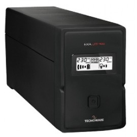 TECNOWARE UPS EXA LCD 900, 900VA/630W, LINE INTERACTIVE W/ STABILIZER, PURE SINEWAVE, LCD DISPLAY, 2YW ELECTRONIC PARTS & BATTERIES.