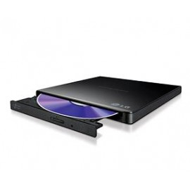 LG DVD R/RW GP57EB40, EXTERNAL, USB2.0, WRITE: 8x DVD R/ 6x DVD R DL/ 8x DVD R/RW, READ: 8x DVDROM, SLIM BLACK, RETAIL, 2YW.