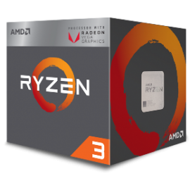 AMD CPU RYZEN 3 2200G, 4C/4T, 3.5-3.7GHz, CACHE 2MB L2+4MB L3, SOCKET AM4, RADEON VEGA 8 PROCESSOR GRAPHICS, BOX, 3YW.