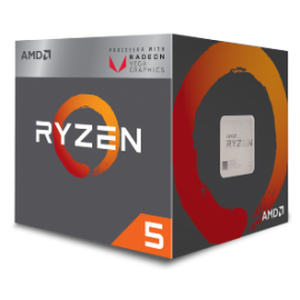 AMD CPU RYZEN 5 2400G, 4C/8T, 3.6-3.9GHz, CACHE 2MB L2+4MB L3, SOCKET AM4, RADEON VEGA 11 PROCESSOR GRAPHICS, BOX, 3YW.