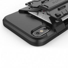 Promate Armor-X  Ισχυρή Θήκη Προστασίας με Βάση Στήριξης και Θήκη Κάρτας για iPhone X – Μαύρη