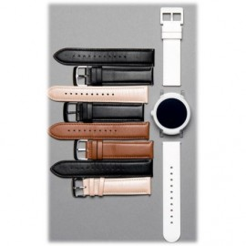 Ticwatch E leather strap black