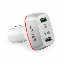 Anker PowerDrive+ 2 With Quick Charge 3.0 White - A2224H21