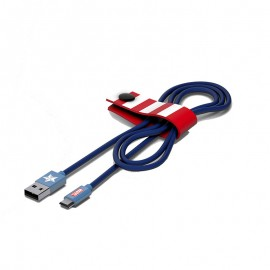 Tribe Marvel Captain America Micro USB Cable - CMR21601
