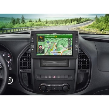 """Alpine X903D-V447 9"""" Touch Screen Navigation for Mercedes Vito (447), compatible with Apple CarPlay"""