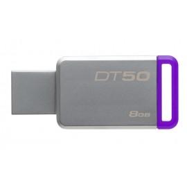 KINGSTON USB Stick Data Traveler 50, DT50/8GB, USB 3.1, Silver/Purple